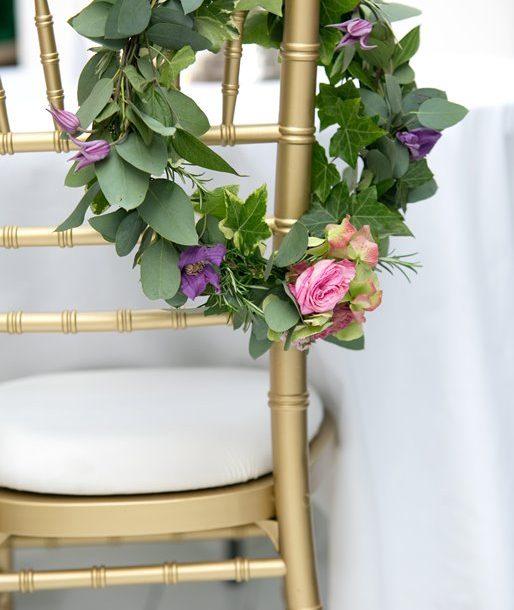 Chiavari Gold flower hoop